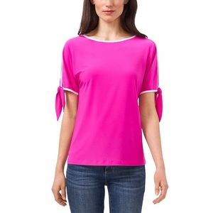 Two by Vince Camuto Tie Sleeve Top